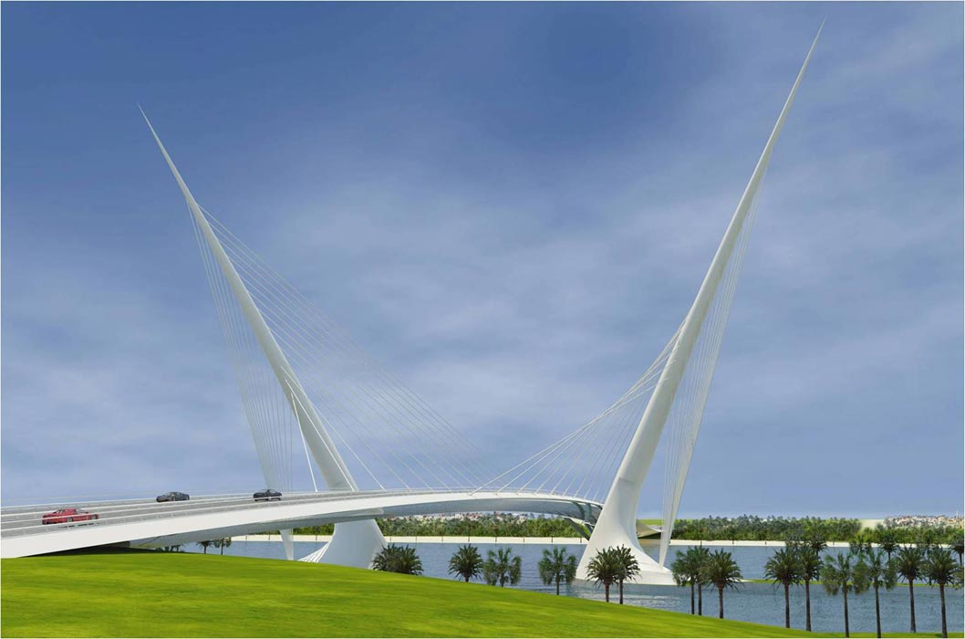 Welcome island bridge to Palm Jebel Ali