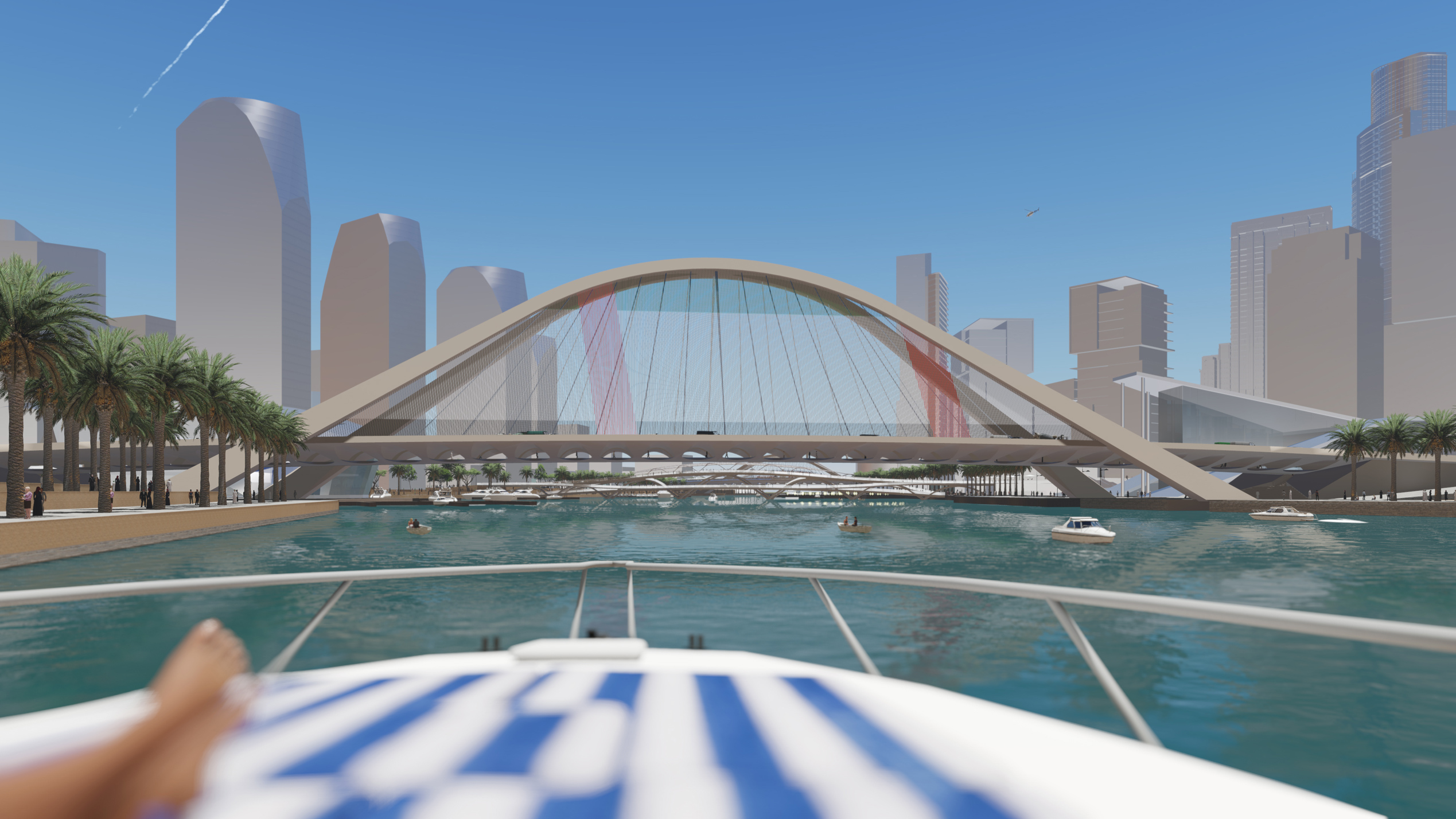 Boogbruggen Dubai Creek Harbour