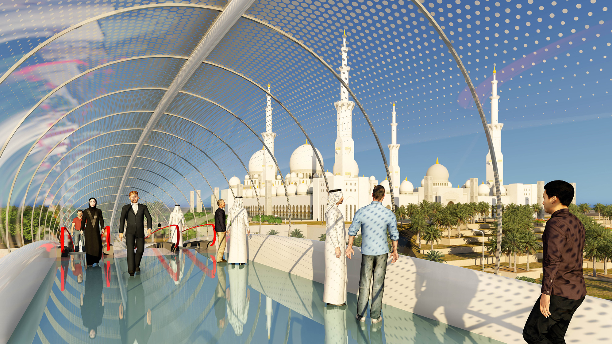 Voetgangersbrug Sheikh Zayed Grand Mosque