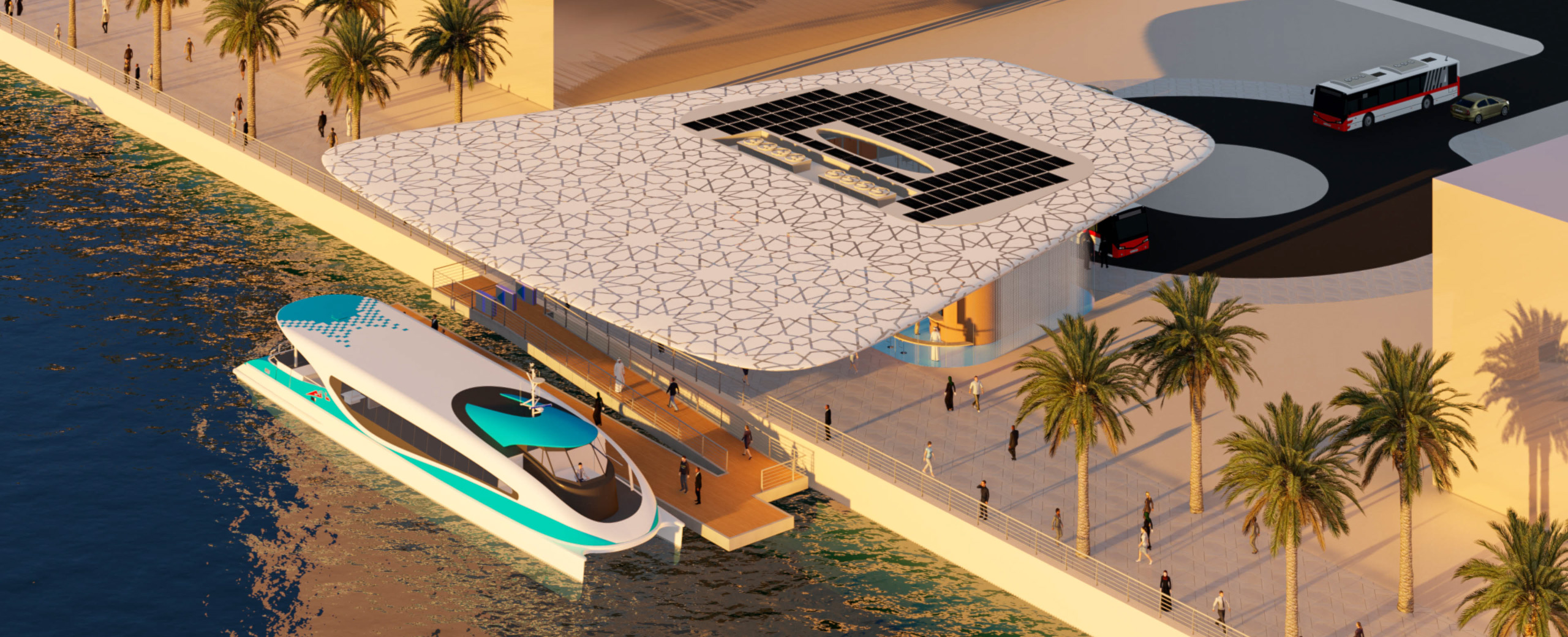Watertransport stations Dubai