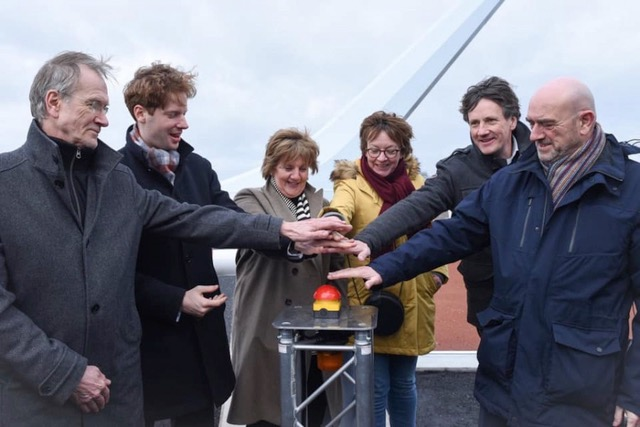 Official opening bicycle bridge Oude Rijn